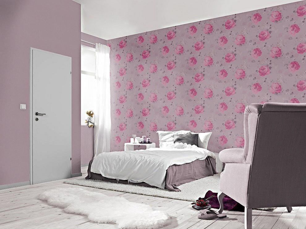 Vliestapete schlafzimmer lila for Vliestapete schlafzimmer