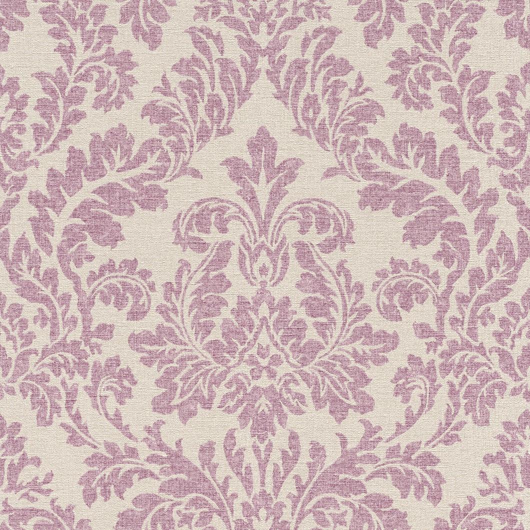 Tapete rasch florentine barock beige lila 449044 for Lila tapete mit muster