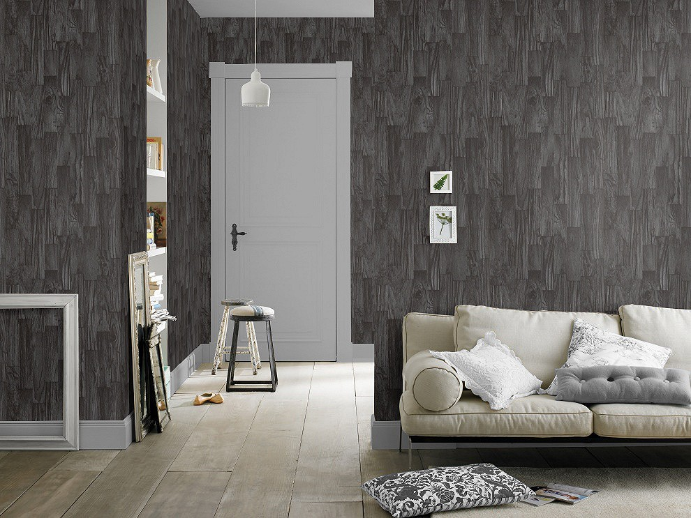 vliestapete holz schwarz factory rasch 446647. Black Bedroom Furniture Sets. Home Design Ideas