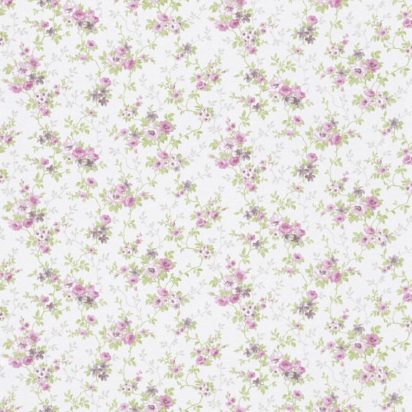 Tapete rosa grün Blumen Petite Fleur Rasch 285139