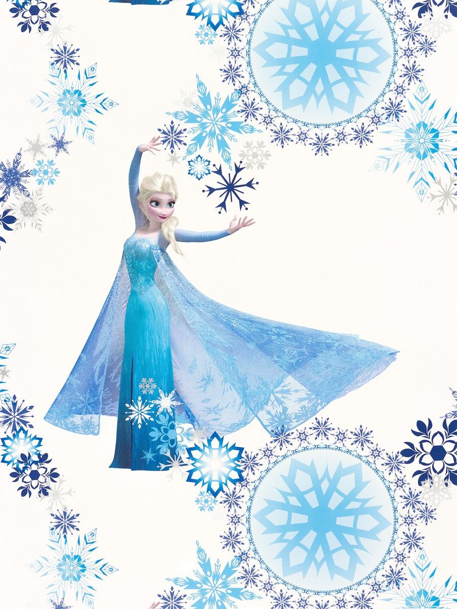 tapete blau weiß disney frozen eiskönigin elsa disney