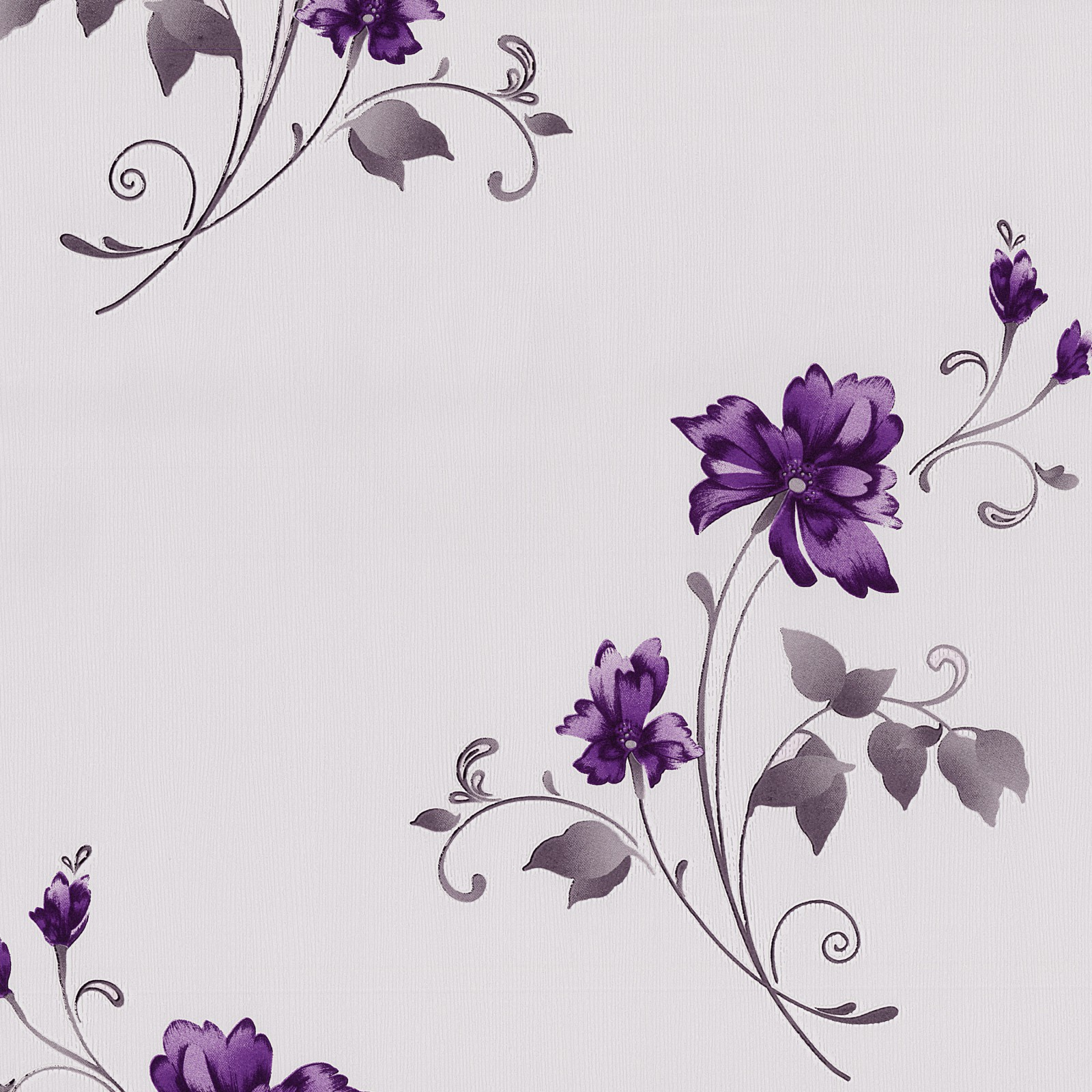 Vliestapete blumen flieder lila tapete p s pure easy 13285 40 for Lila tapete mit muster