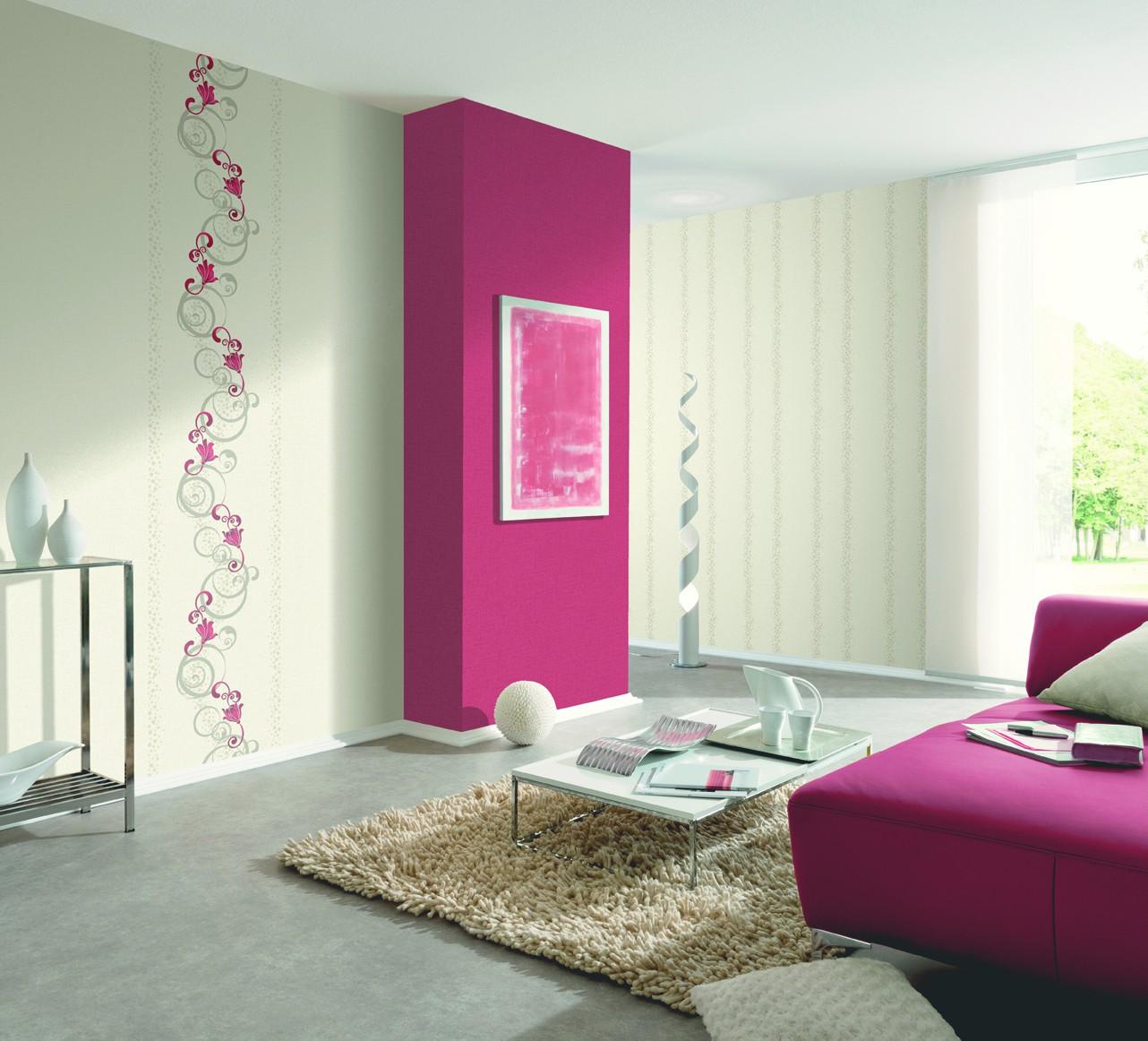 vliestapete blumen grafisch rot grau tapete p s pure easy 13287 20. Black Bedroom Furniture Sets. Home Design Ideas
