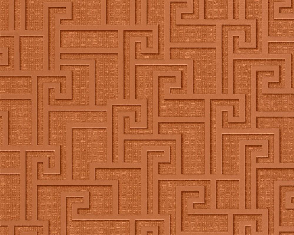 vliestapete muster abstrakt kupfer as creation versace 96236 2. Black Bedroom Furniture Sets. Home Design Ideas