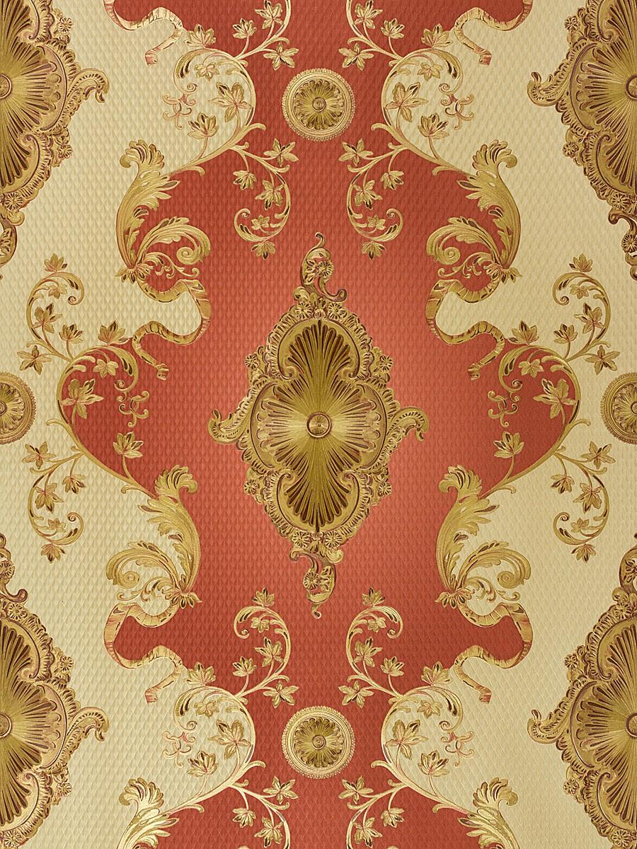 Hochwertige Tapeten G?nstig : Tapete Hermitage Gold Rot Hochwertige Satin Tapete Die Artikel Werden