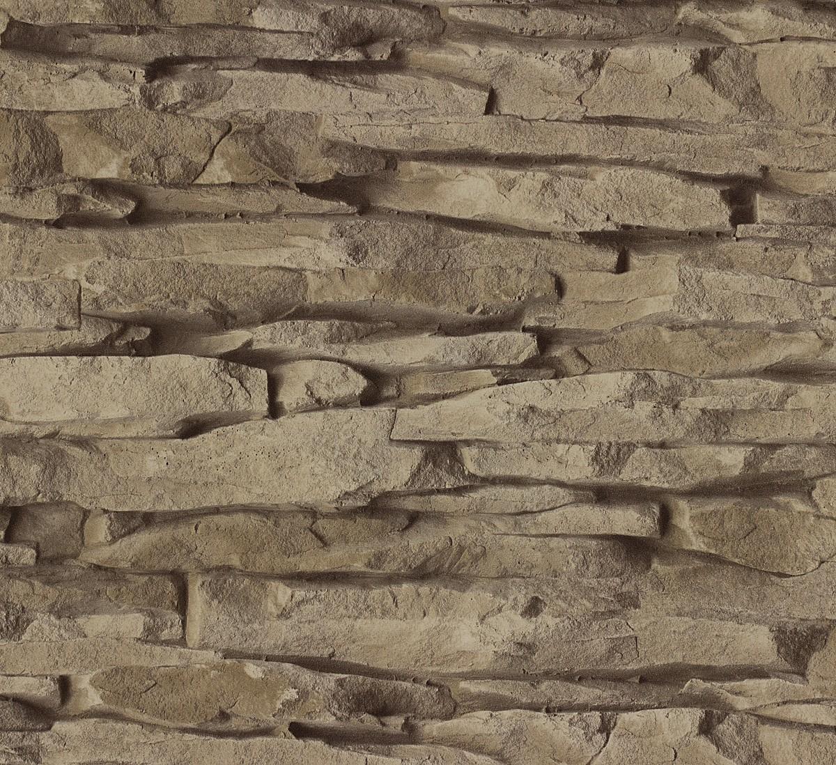 Rasch Tapeten Home Style : Vliestapete braun Stein Home Style Rasch 859508