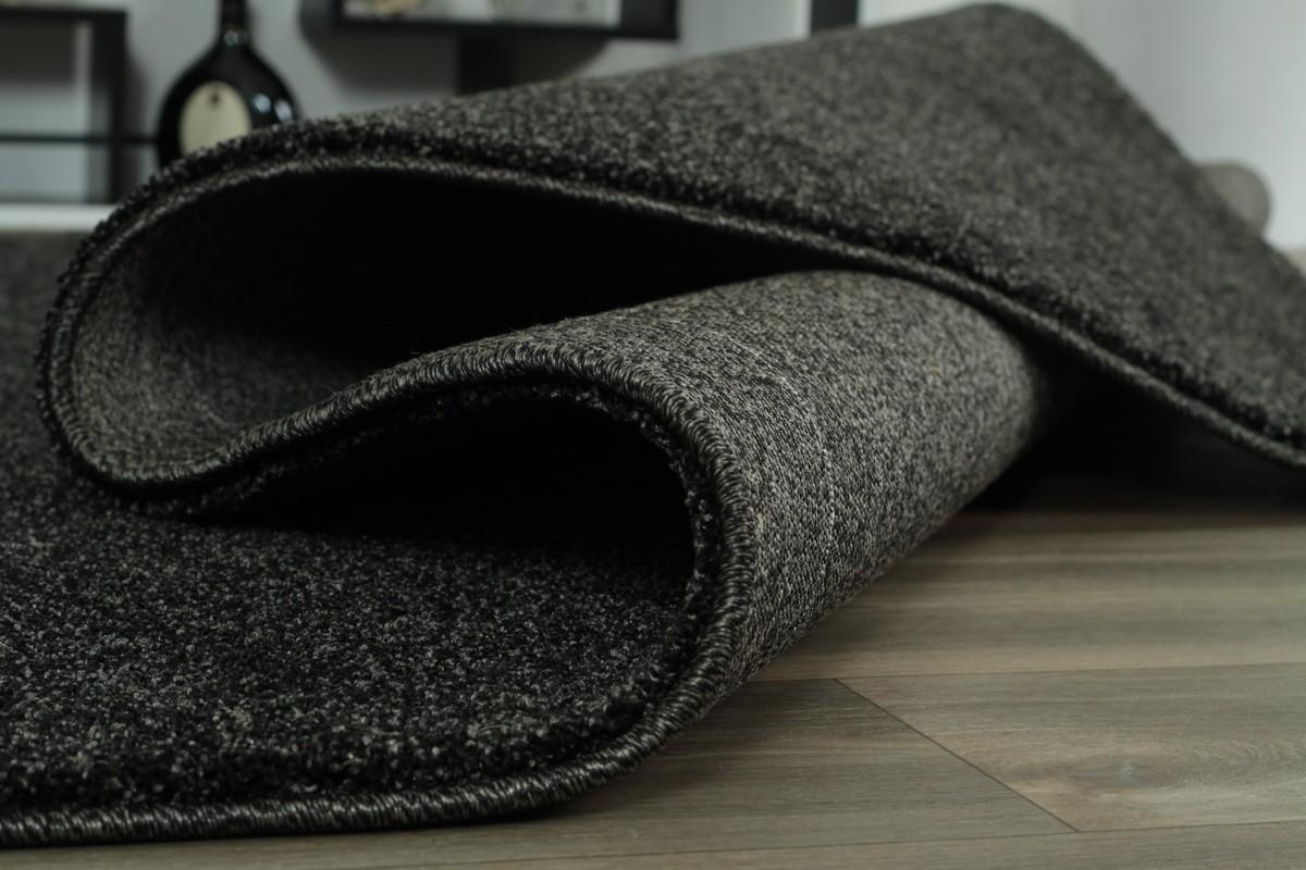 Teppich anthrazit Uni Soma in 5 Größen