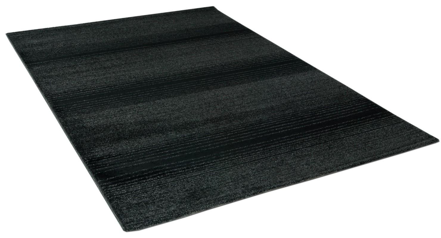 Teppich anthrazit Streifen Madrid in 5 Größ