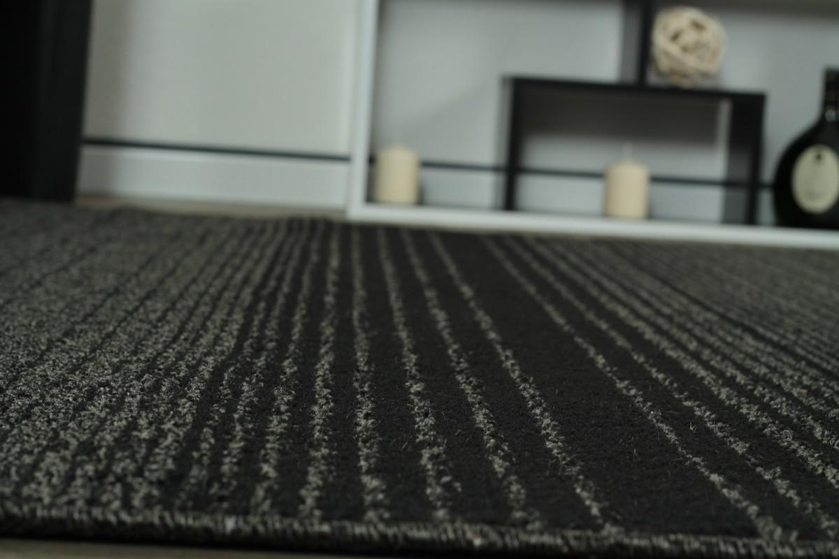 Teppich anthrazit Streifen Madrid in 5 Größen