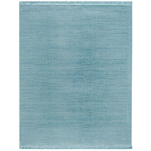 Teppich blau Uni Tarz in 4 Größen