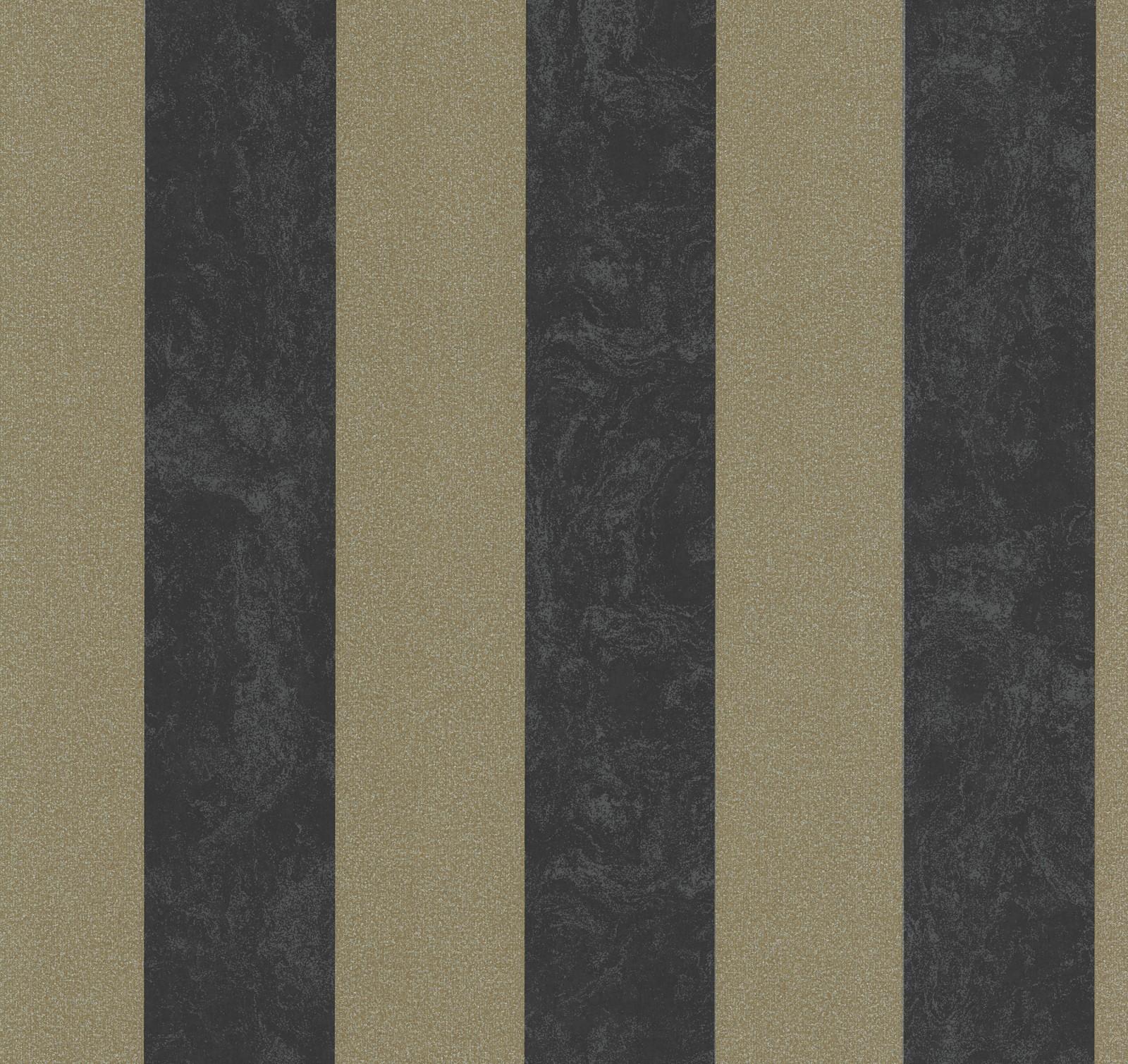 Tapete streifen schwarz braun glitzer carat 13346 90 for Schwarze glitzer tapete