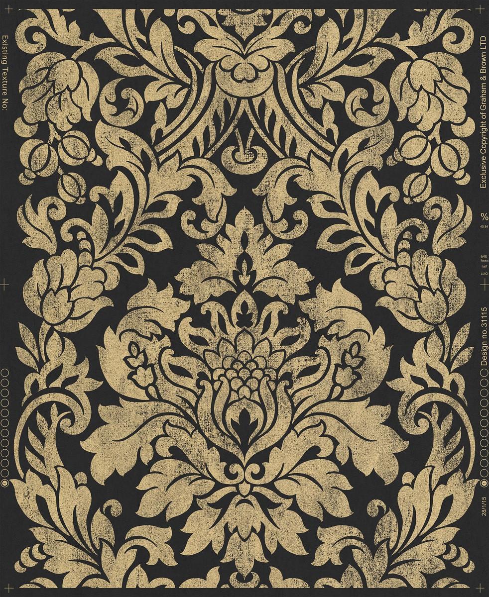 tapete graham brown artisan barock schwarz 33 330. Black Bedroom Furniture Sets. Home Design Ideas