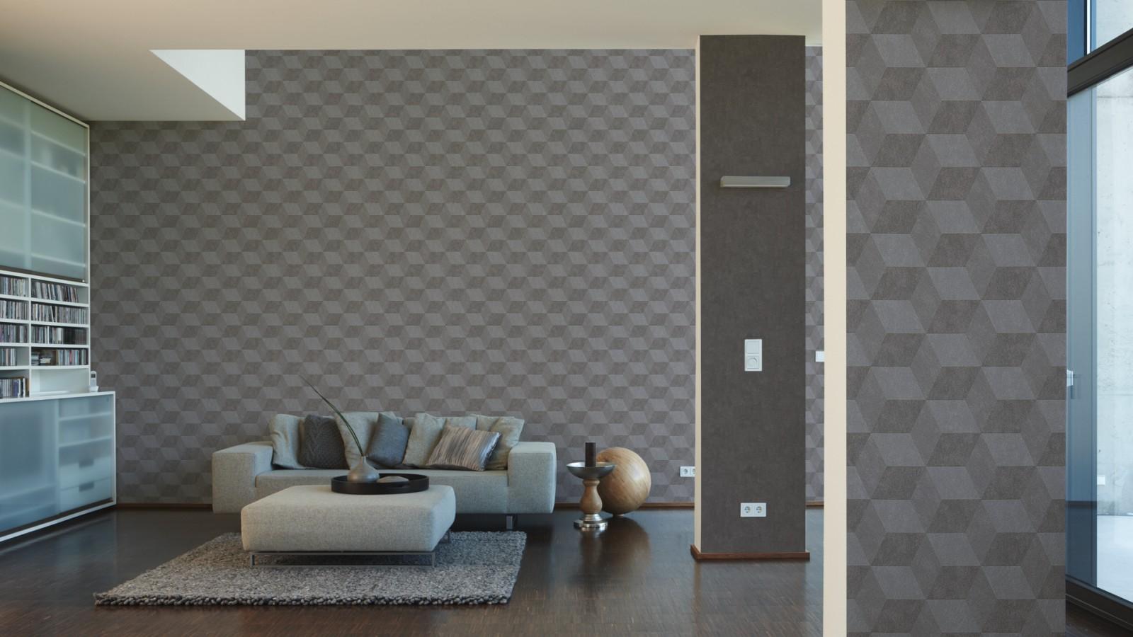 Wallpaper Michalsky Designer structure grey 30458-3