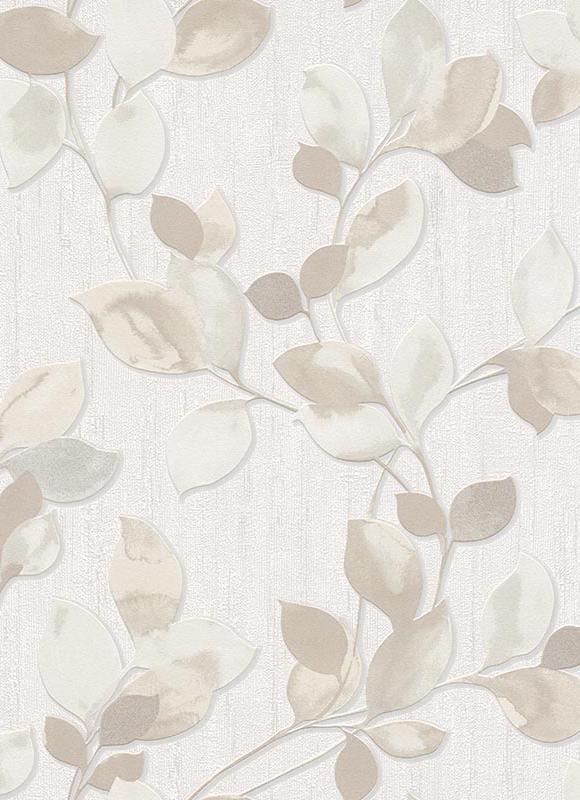 tapete central park bl tter creme beige 6972 02. Black Bedroom Furniture Sets. Home Design Ideas