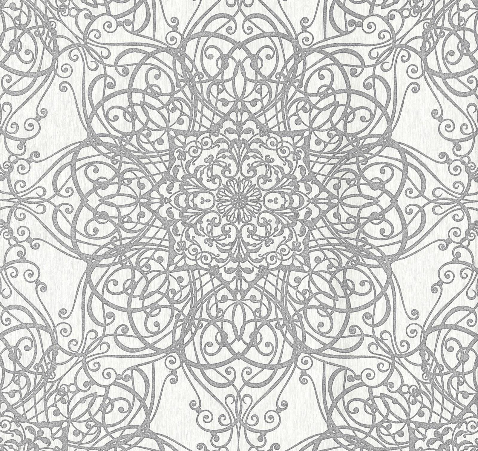 tapete guido maria kretschmer ornament creme 02465 30. Black Bedroom Furniture Sets. Home Design Ideas