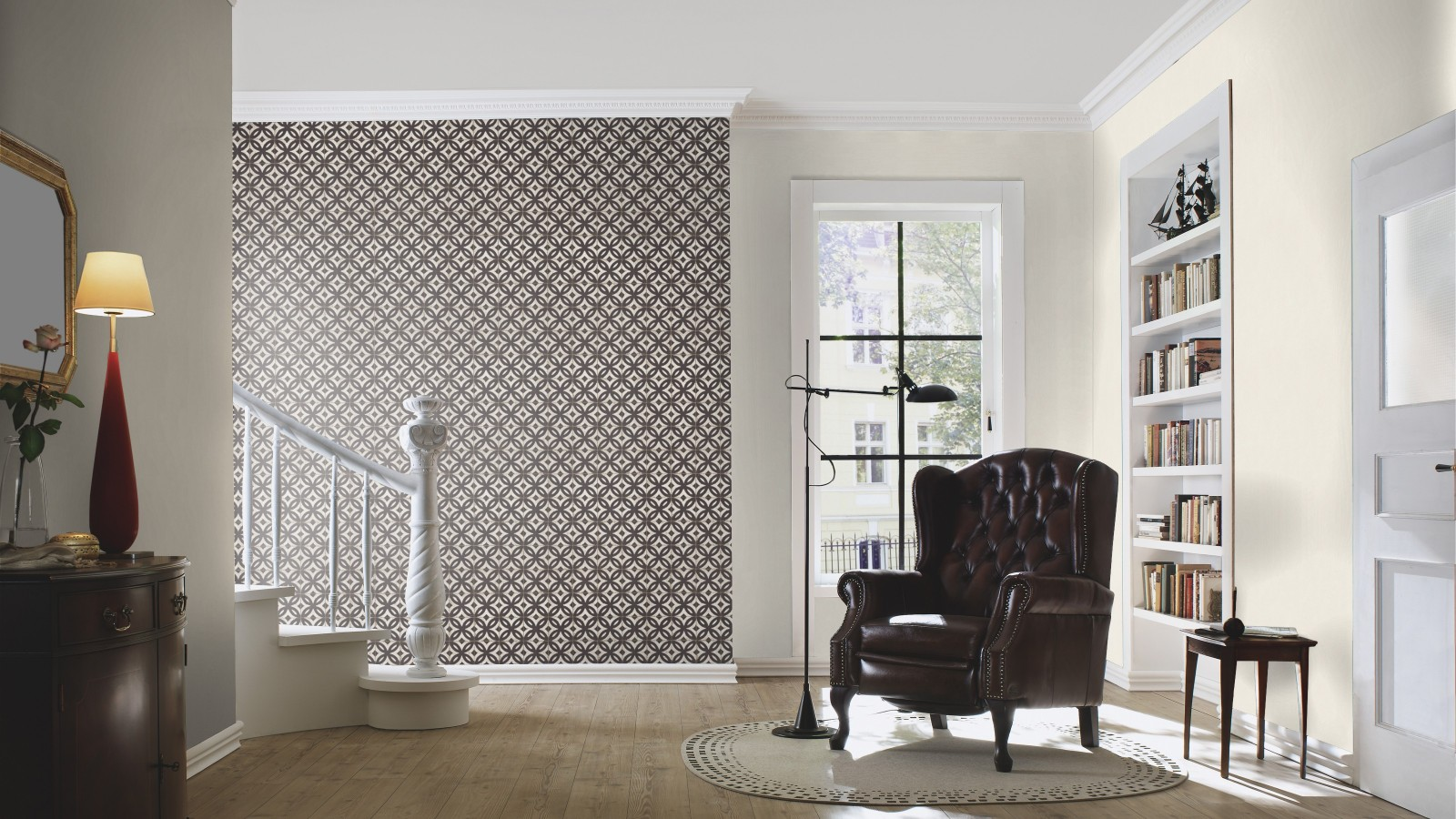 tapete rasch crispy paper fliesen grau braun 524710. Black Bedroom Furniture Sets. Home Design Ideas