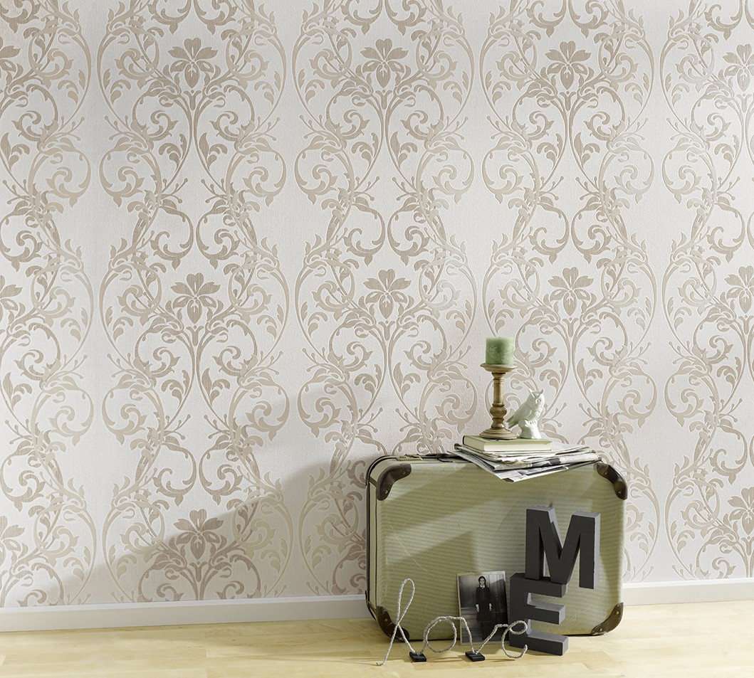 tapete erismann make up ranken wei beige 6983 02. Black Bedroom Furniture Sets. Home Design Ideas