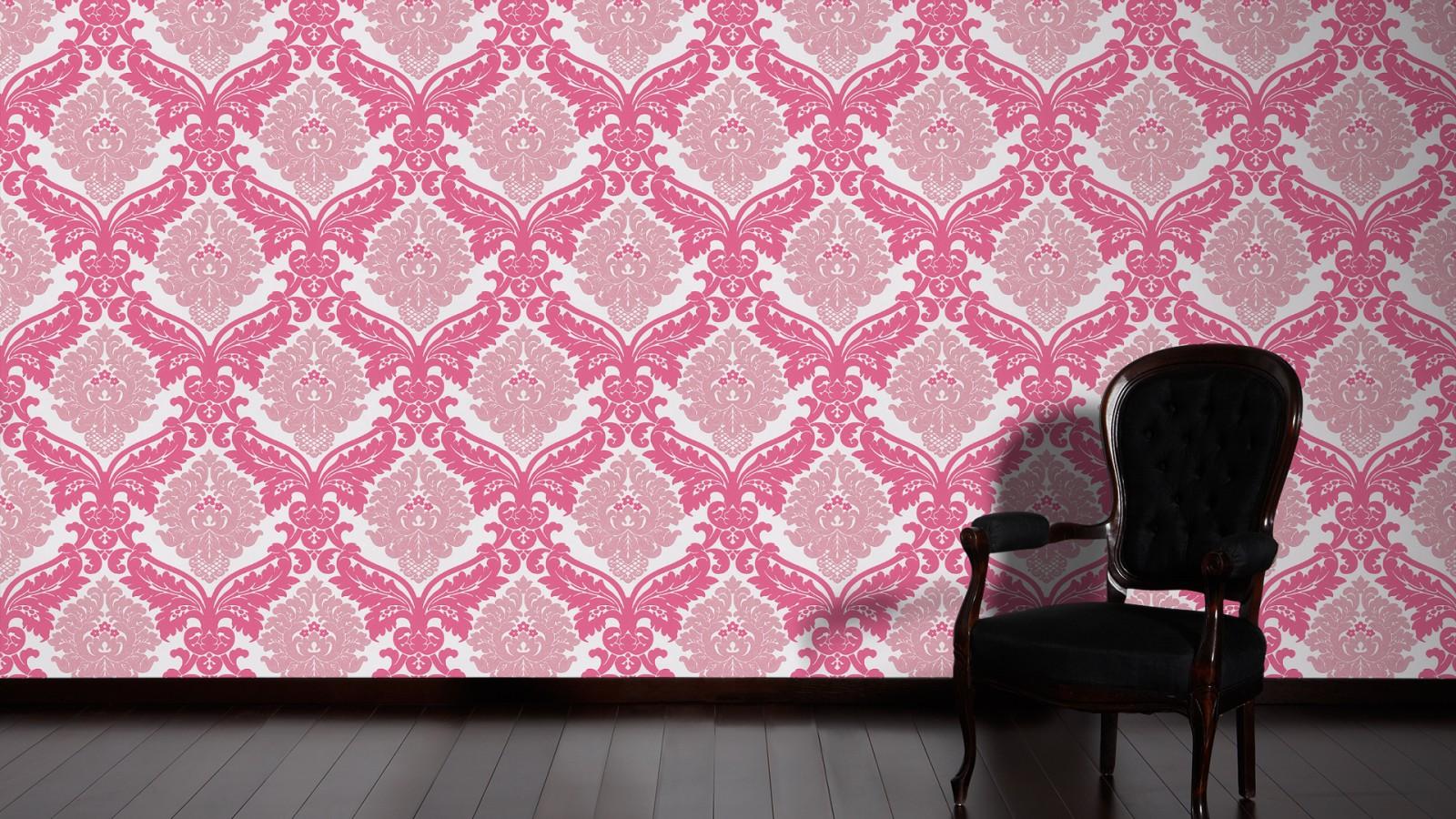tapete bling bling barock glitzer pink wei 3139 35. Black Bedroom Furniture Sets. Home Design Ideas