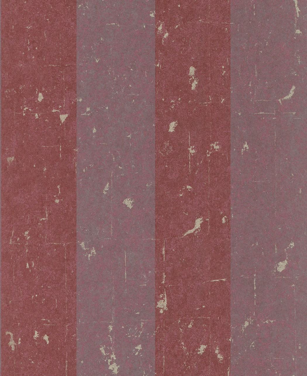 Tapete rasch textil tintura streifen rot 227337 for Tapete streifen rot