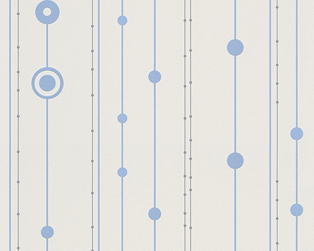 Tapete Blau Wei? Streifen : Tapete Streifen AS Creation Spot wei? blau 30600-2