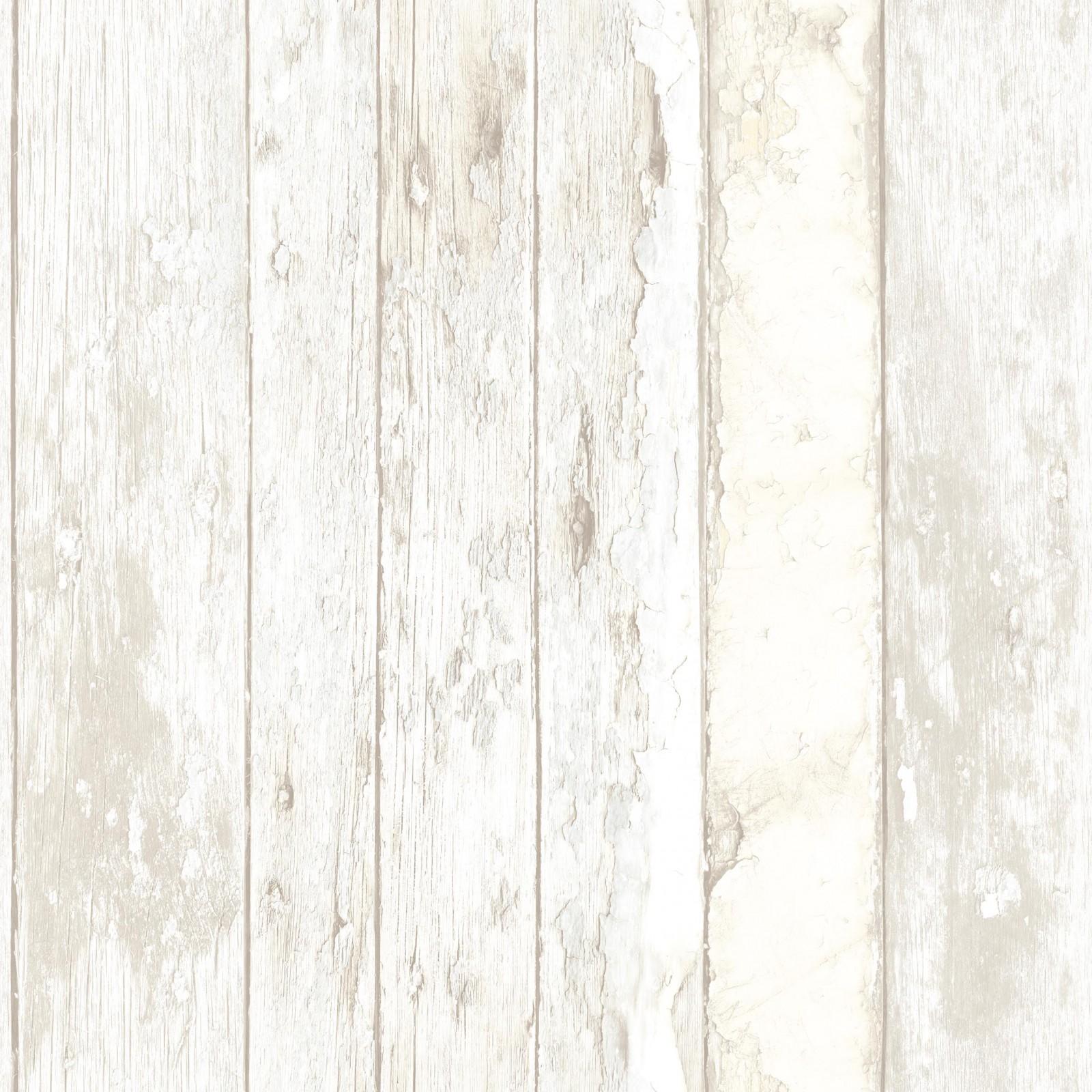 wallpaper grandeco exposed wood 3d white vintage shabby. Black Bedroom Furniture Sets. Home Design Ideas