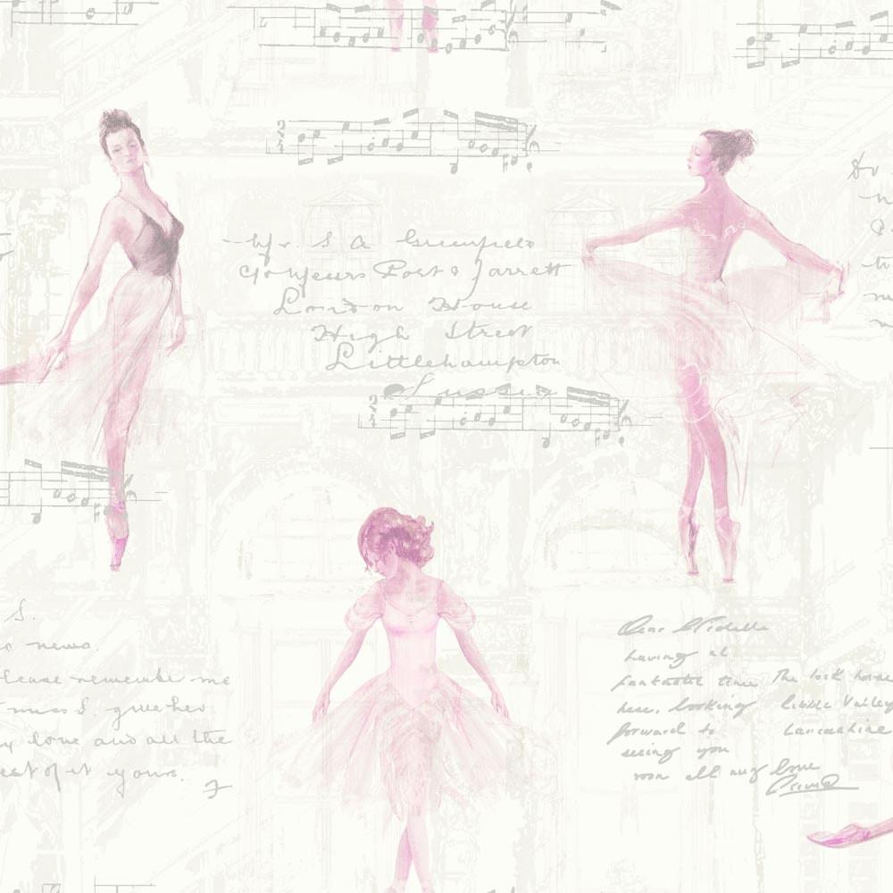 kids wallpaper girl ballerina glitter white 668200