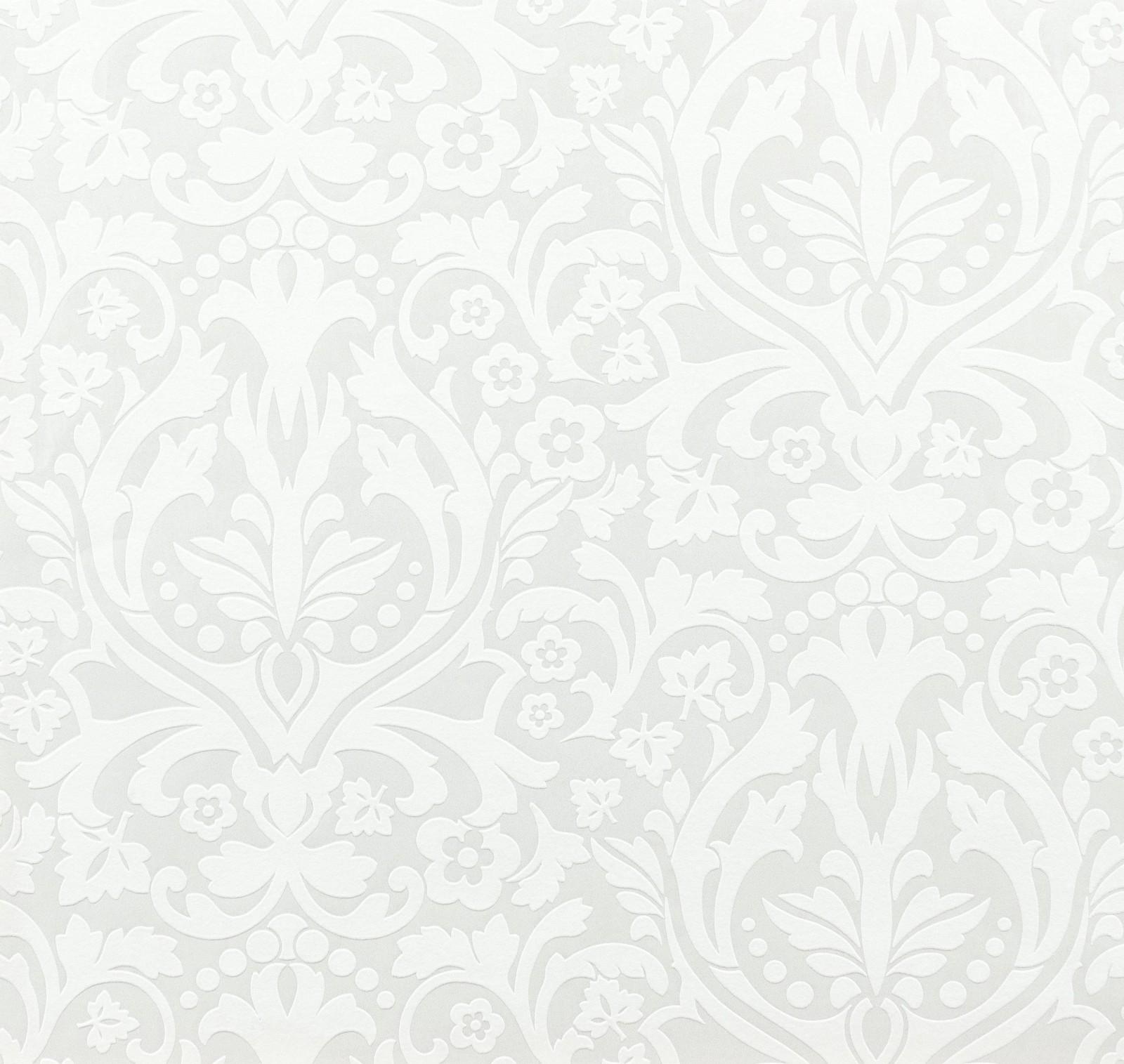 tapete rasch chelsea ornamente 758733 weiss silber