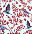 Wallpaper Rasch Vintage Chic non-woven wallpaper 321622 bird white red 001