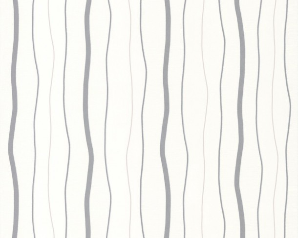Non-woven wallpaper AS Avenzio 4 2495-17 249517 stripes white grey