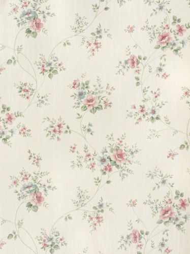 Rasch Textil satin wallpaper Country Charm 298429 rose rose blue