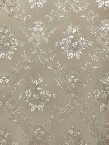 Rasch Textil satin wallpaper Country Charm 298511 ornaments grey