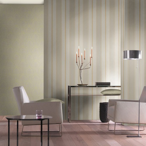 wallpaper rasch non-woven wallpaper Trianon  stripes light grey  grey  513127 online kaufen