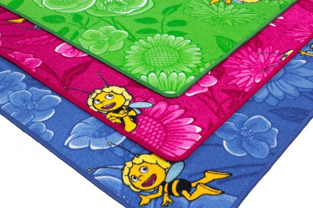 Kids carpet / rug Maya the Bee and Willi in 3 different colors and 3 sizes online kaufen