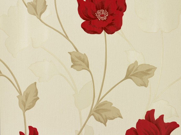 Wallpaper Chicago A.S Création wallpaper 3085-11 308511 flowers cream red online kaufen