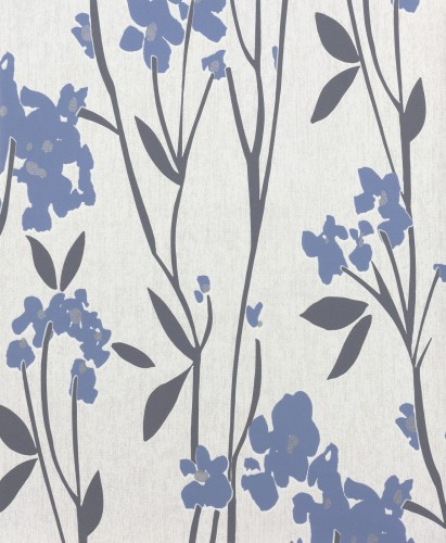 Graham & Brown Superfresco non-woven wallpaper Element 31-837 31837 vine grey blue