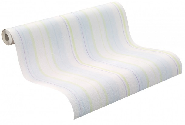 Rasch kids wallpaper Piccolo wallpaper 271584 stripes white blue online kaufen