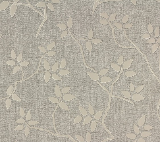 Wallpaper A.S. Création Elegance 2 non-woven 93722-1 937221 vines grey beige
