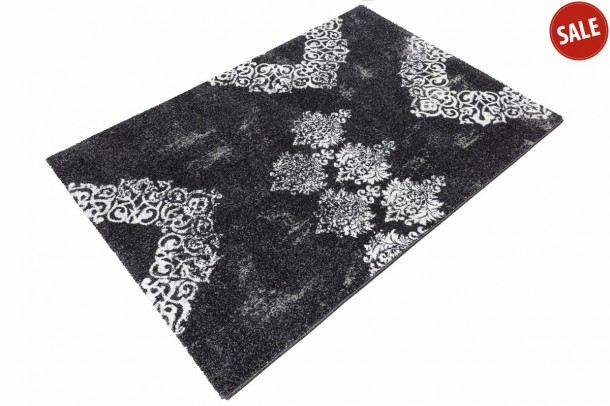 Carpet Manhatten modern designer rug in different sizes black online kaufen