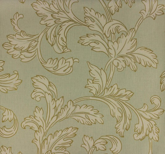 Marburg Wallpaper Astoria non-woven wallpaper 53715 vines greygreen gold