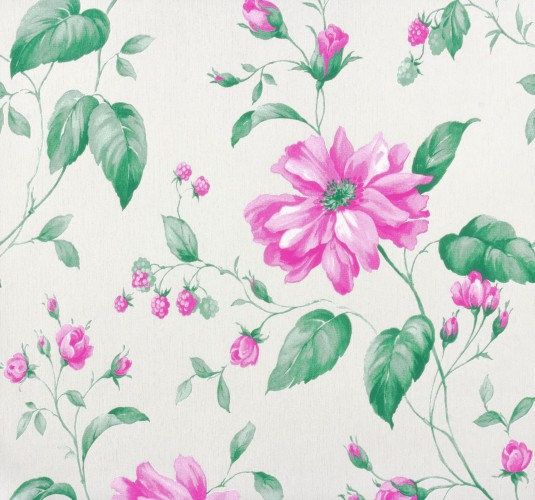 Marburg Wallpaper Astoria non-woven wallpaper 53738 flowers white green pink