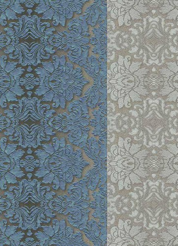 wallpaper Hommage Erismann non-woven wallpaper 5811-19 581119 baroque stripes turquoise