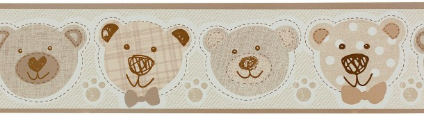 P+S kids wallpaper Happy Kids border 05577-30 557730 bear cream beige online kaufen