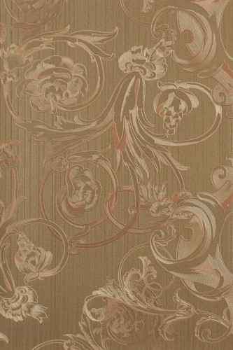 Harald Glööckler Deux non-woven wallpaper 54436 plain baroque brown online kaufen