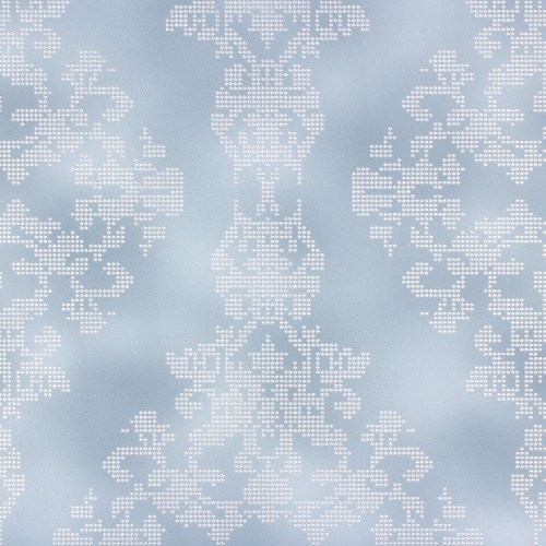 non-woven wallpaper Rasch Diamond Dust 450408 baroque dots blue silver glitter online kaufen