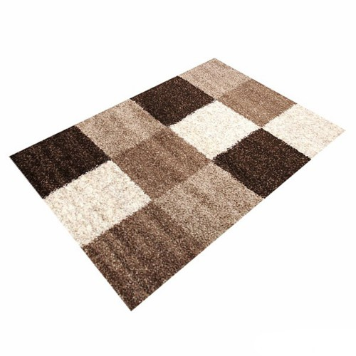 Carpet brown squared Basic Trendy Shaggy 5 sizes online kaufen