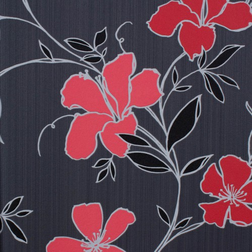 Graham & Brown Majestic non-woven wallpaper 32-410 32410 floral red black online kaufen