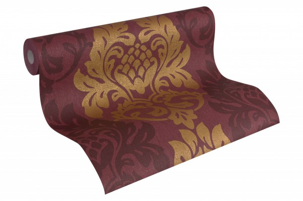 Wallpaper baroque  red gold AS Fleece Royal 96190-4 online kaufen