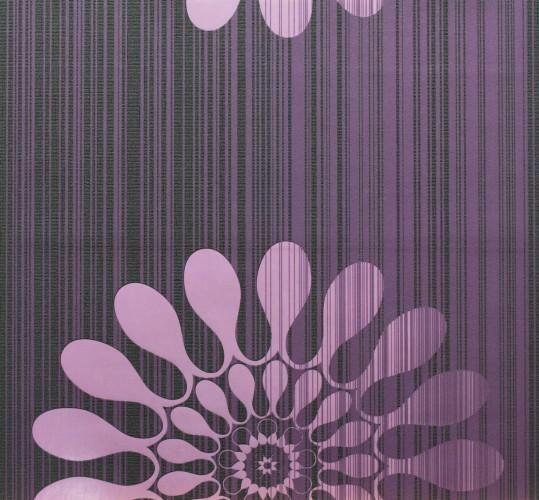 Muster Tapete Lila Schwarz : MUSTER Tapete Panels Marburg 51554 Retro lila Vliestapete online