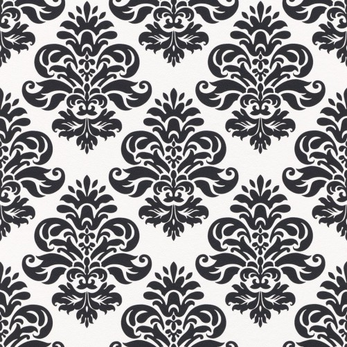 08521 40 vinyl tapete black white barock top edel for Tapete barock