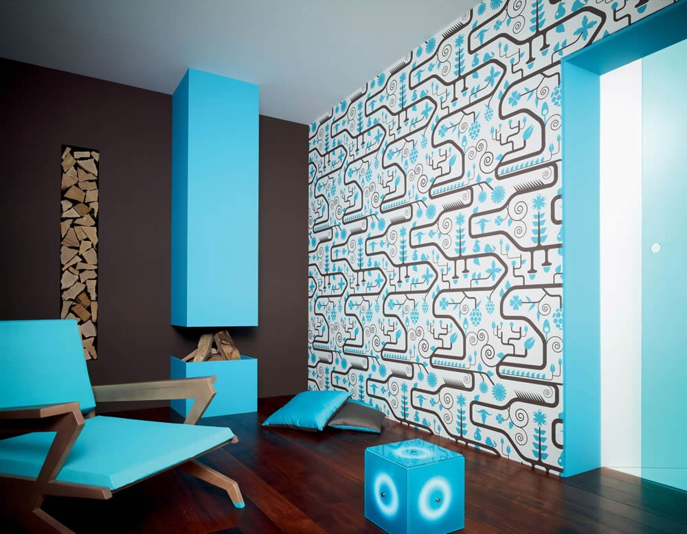 Lars Contzen Retro Tapete : A Pattern in Interior Design Room